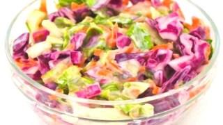 Vegan Coleslaw (Low-Carb + Sugar-Free + Low-Fat)