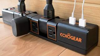 Echogear Rotating Surge Protector Power Strip with 2 USB Ports & 6 Rotating AC Outlets