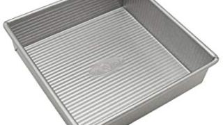 USA Pan Bakeware Square Cake Pan, 8 inch, Nonstick, Made in the USA from Aluminized Steel