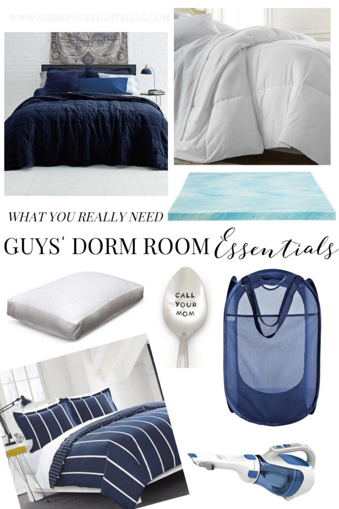 The Guys' Guide to Dorm Room Essentials | What he really needs!