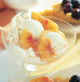 Peach-Custard