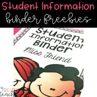 Student Information Binders! (Tons of FREEBIES inside)