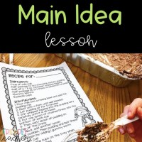 Main Idea and Detail with Dirt Pudding {& a Freebie}