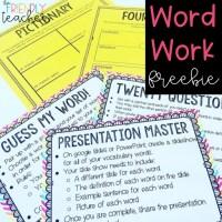 Word Work for Upper Elementary