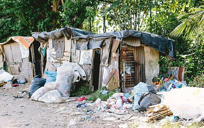 A one room shack at the city dump
