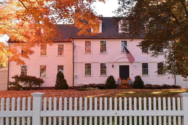 Colonial,farmington, ct, architecture, connecticut, new england, fall