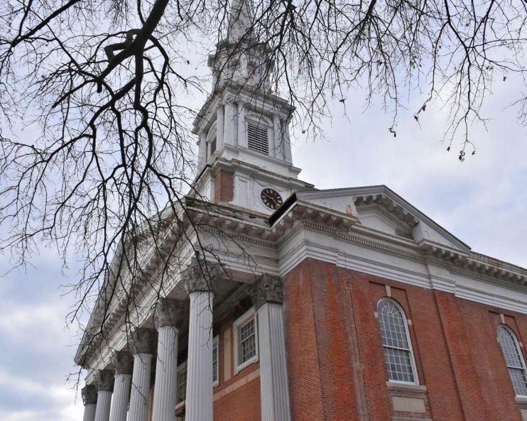 horace bushnell congregational church, ct, hartford, main street, steeple