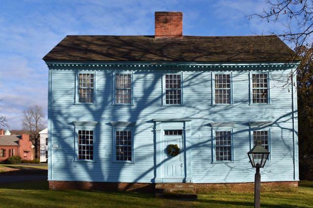 deerfield, massachusetts, wells-thorn house, blue