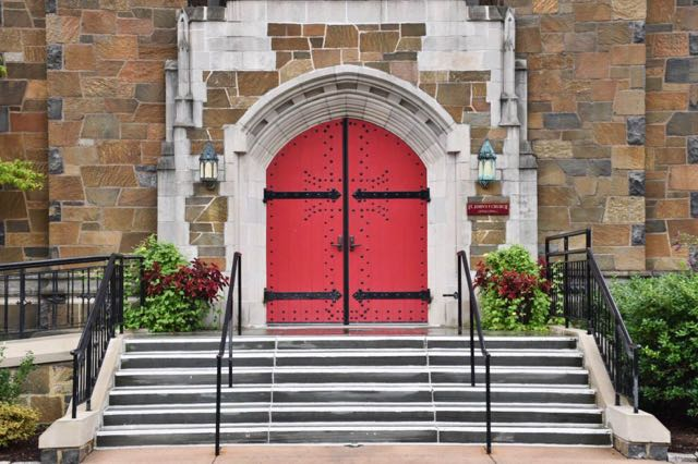 church, red door, st. john's episcopal