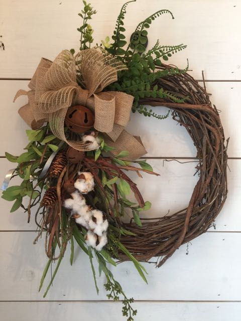 wreath, christmas, winter