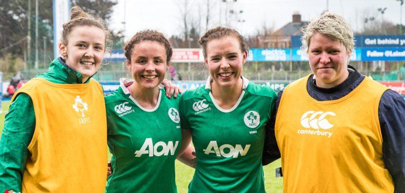 Nikki Caughey, Larissa Muldoon, Claire McLaughlin, Ilse van Staden, Ireland Women