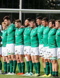 Ireland U20s ahead of their game against Georgia in Narbonne.