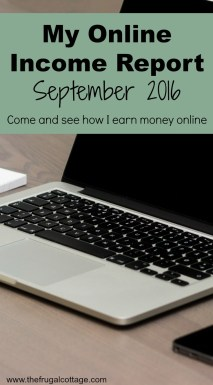 Online Income Report September 2016