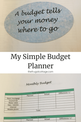 my simple budget planner the frugal cottage