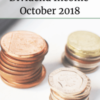 Dividend Income October 2018 - The Frugal Cottage | income | investing | money | finances | financial freedom | money saving