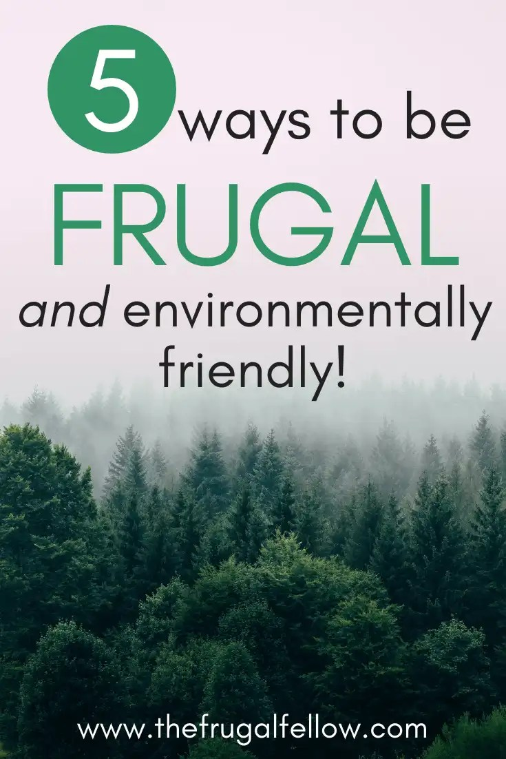 Here are 5 ways to be frugal while also living a sustainable life.