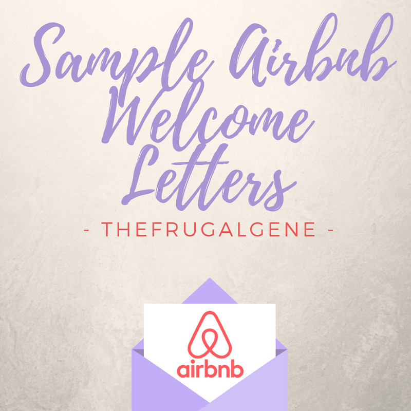 AirBnB Template Messages - Welcome Letters & Security Deposits