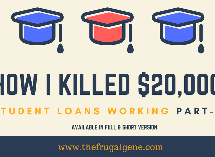 How I Paid Off $20,000 In Student Loans Working Part-Time (Full Version)