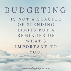 not a shackle of spending limits but a reminder of what's important to ourselves.-min