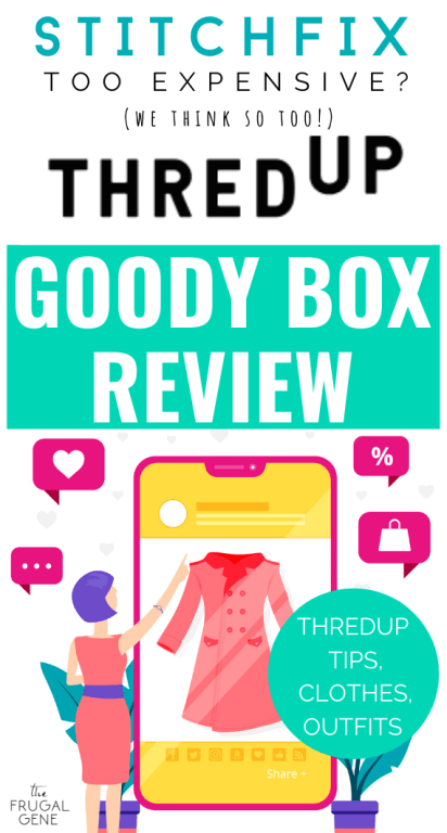 Real, honest #ThredUp Goody Box review: outfit try ons & ThredUp tips with sustainable, secondhand, frugal fashion. Finding cute outfits makes me overwhelmed & its expensive! But I tried Thredup's Goody Box for only $10 and it made shopping more fun! - Affordable clothes, clothing sites for women, online shopping womens fashion, used clothes for sale, buy used clothing, where to buy secondhand clothing, online thrift store, shop ideas, subscription boxes for women under $10, money saving fashion