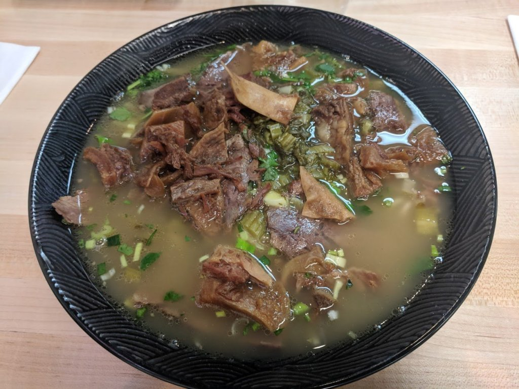 bowl of beef noodles