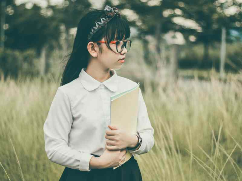 asian book reading cute nerdy