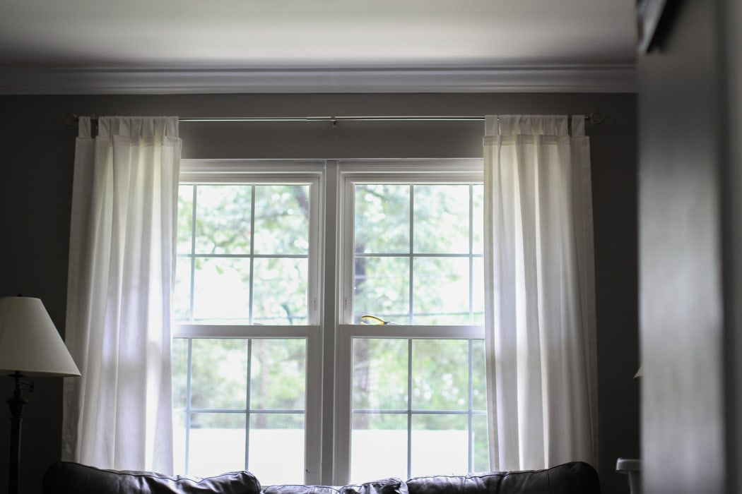Too High Too Low Just Right Curtain Rod Height Issues The Frugal Girl