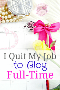 I recently quit my full-time job to blog! This was 2 1/2 years in the making, but I did it! Let me show you how you, too, can quit your job and work from home doing a job you love!