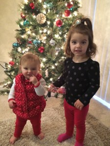 Christmas Cami and Maisie