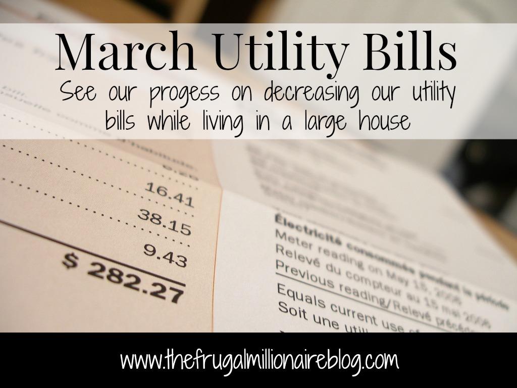 March utility bills
