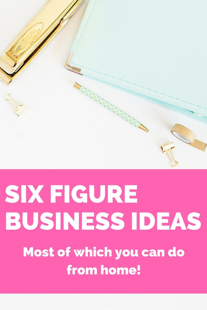 Six figure business ideas that you can do from home! Check out these top ways to make money from home. You no longer have to choose between a career and a family. Why not have both?! Let me help you get started!