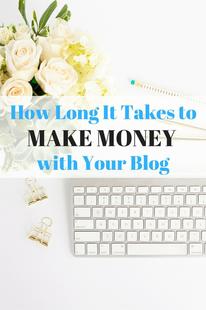 How long it takes to make money with your blog. Here, I am setting completely realistic expectations on making an income from your blog. It doesn't happen overnight, or even within a few months for most bloggers. This is an in-depth look at how long it takes to make money with your blog!