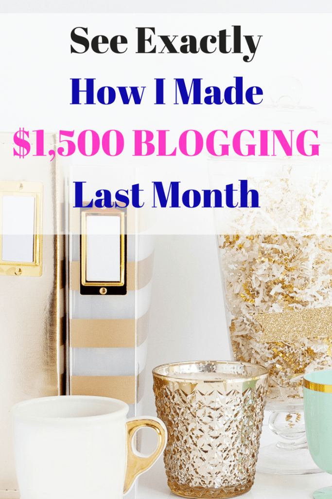 Want to make money blogging? Here's exactly how I made over $1,500 last month blogging with very little work! I promise, you can do this too!