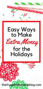 Make extra money over the holidays. How to make extra money for the holidays. Side hustles for the holidays.