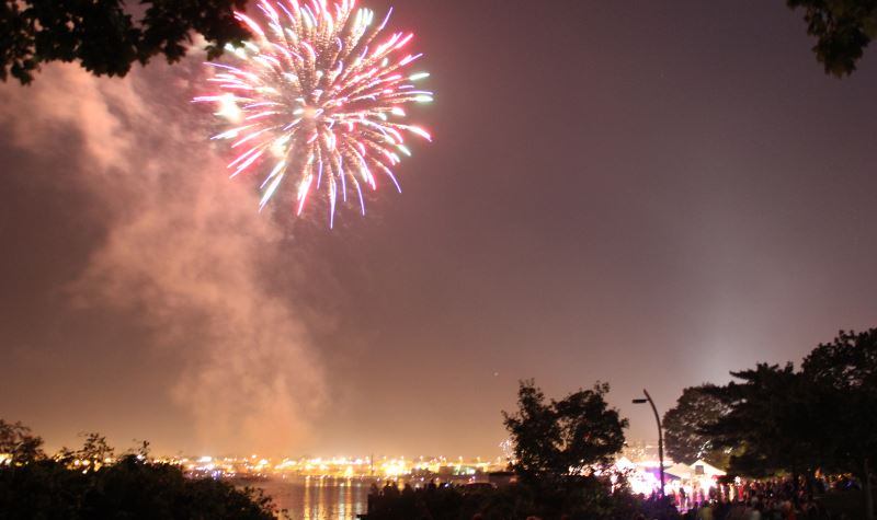 Providence fireworks at India Point Park