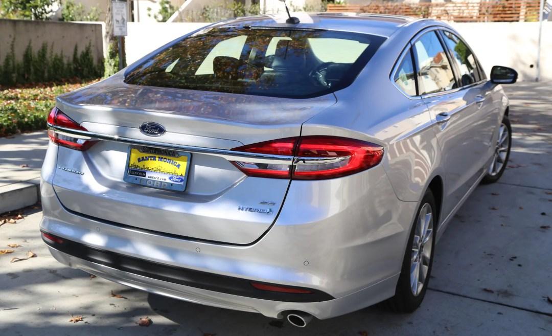 Ford Fusion Hybrid SE rear
