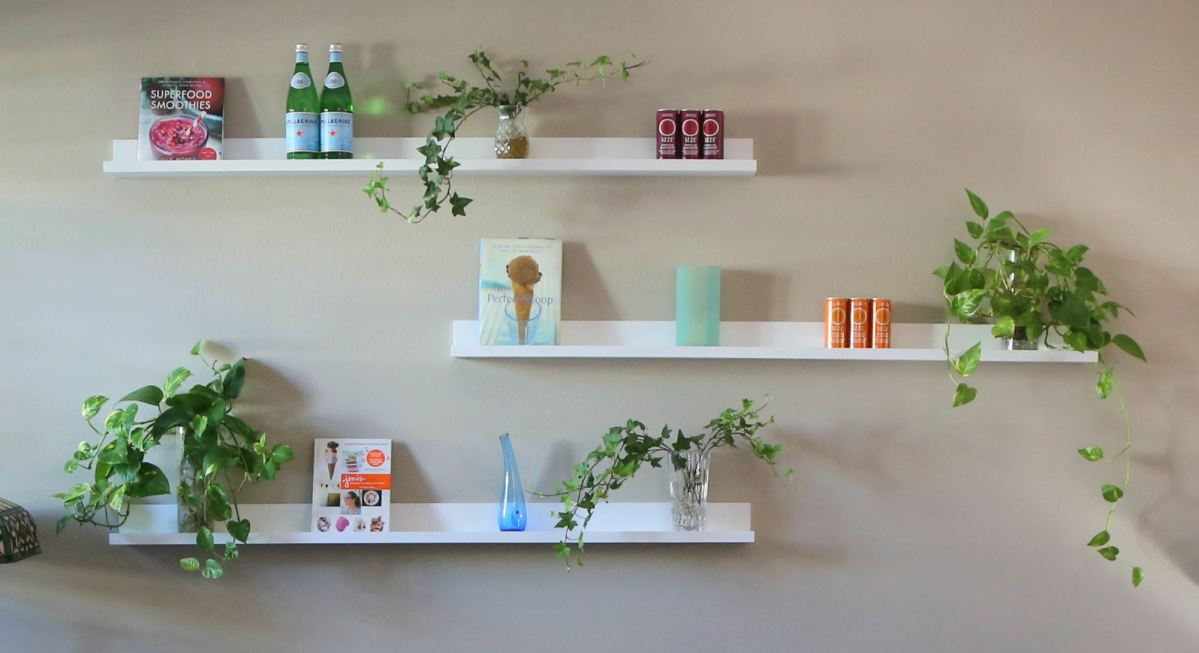Liven Up a Dull Wall with Lewis Hyman Floating Wall Shelves