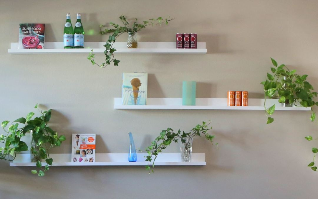 Liven Up a Dull Wall with  Floating Shelves
