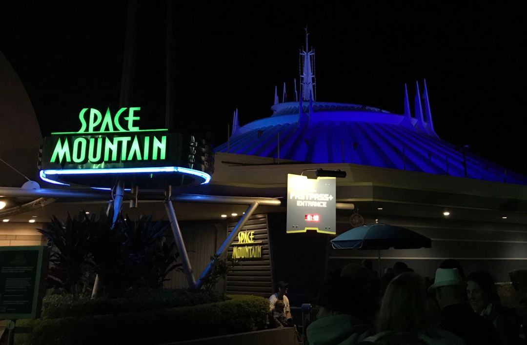 Space Mountain at the Magic Kingdom