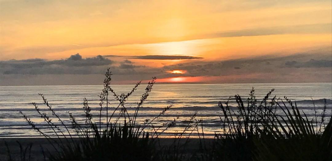 Sunset from the Punakaiki Resort