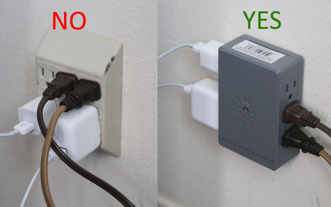 Side-Entry Socket Provides Six Power Outlets with Lower Profile