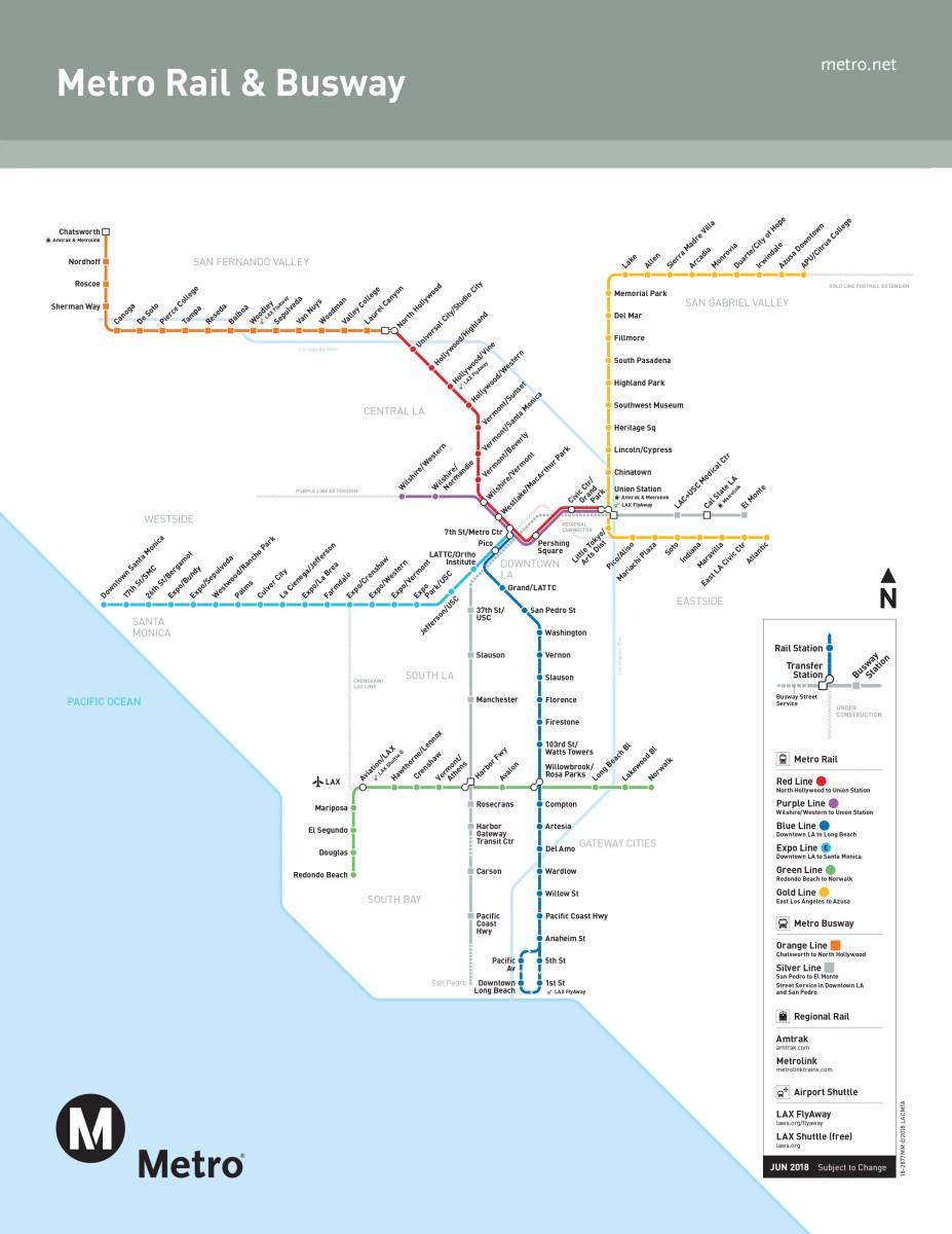 Los Angeles Metro Rail Map