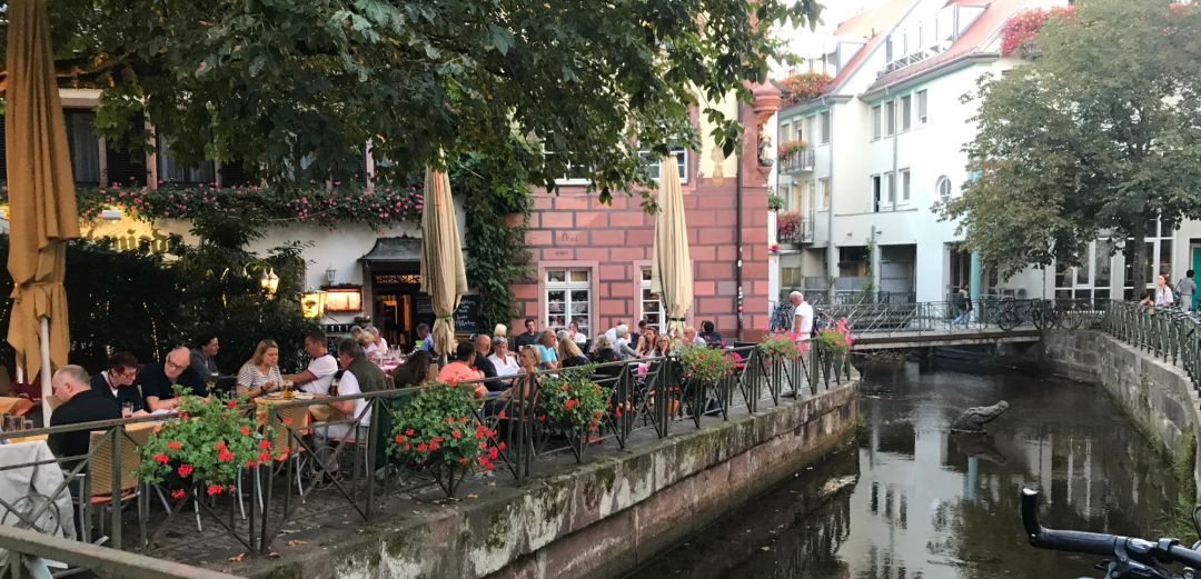 Charming cafe in Freiburg im Breisgau's Altstadt