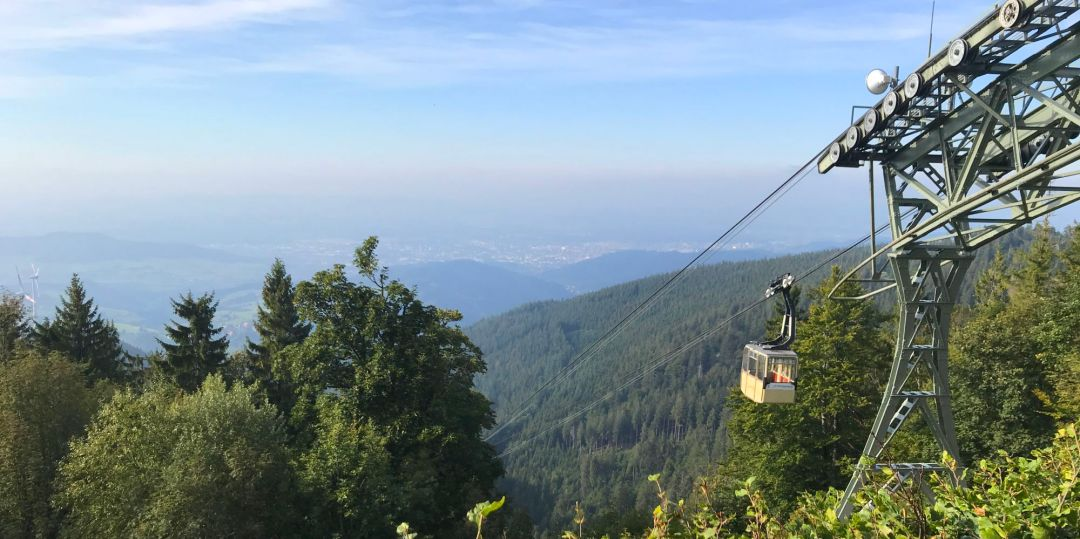 Cable car to Shauinsland in the Black Forest
