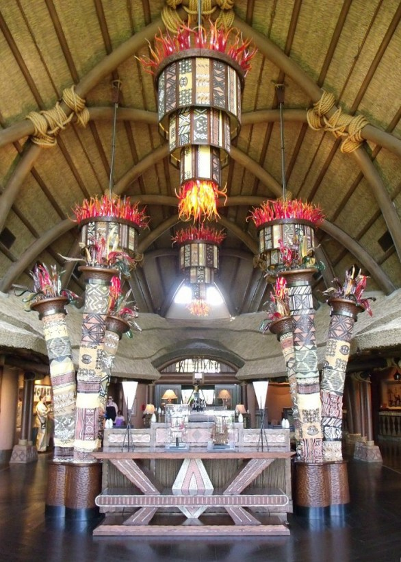 Lobby of Disney's Animal Kingdom Lodge - Kidani Village