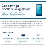 Amex Cardholders: Get up to $30 off your cell phone bill