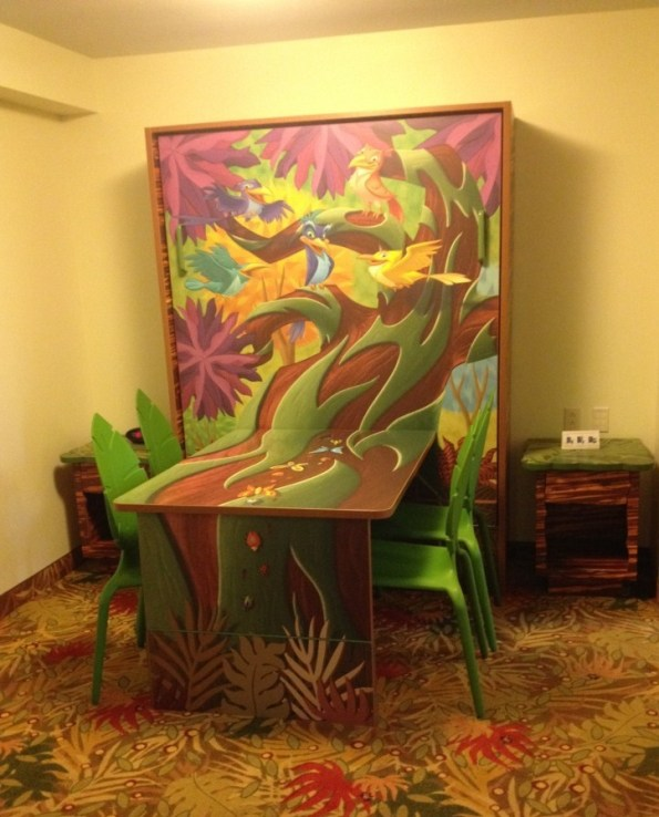 lion king themed table in art of animation resort room