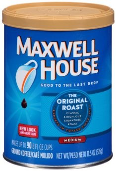 Can of Maxwell House Ground Coffee