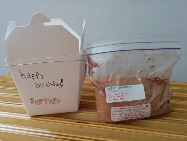brownie mix take out DIY gift