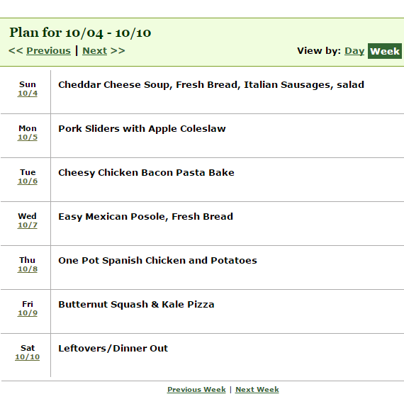 week 7 of dinner on a budget recipes
